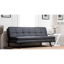 black convertible sofa abbyson living solara leather convertible sofa black