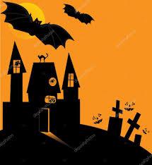 scary halloween cartoons halloween castle u2014 stock vector nataly0288dp 4039960