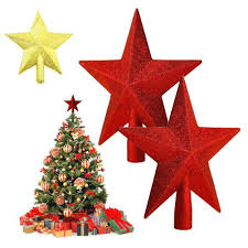 wholesale christmas tree topper supplies silver gold red powder