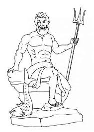 god poseidon on his throne from greek mythology coloring page jpg