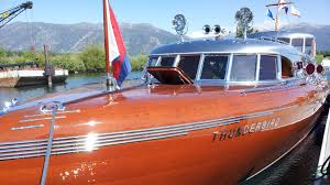Power Boat Interiors South Tahoe Antique Wooden Boat Classic Youtube