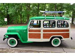 willys jeep truck green 1952 jeep willys woody wagon for sale classiccars com cc 998743