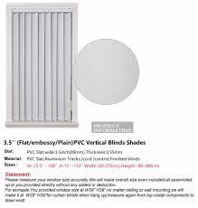 pvc vertical blinds shades 3 5 u0027 u0027 flat embossy plain slat