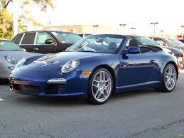 porsche s 2009 2009 aqua blue metallic porsche 911 s cabriolet 263276
