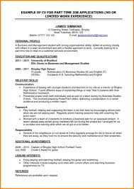 time resume exles part time resumes exles sidemcicek resume for collection of