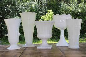 Milk Glass Vase Milk Glass Vases Large Vintique Rentals