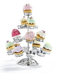 cup cake stands godinger chrome plated 21 cupcake stand silver cake