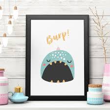 somegoodwords kid u0027s design art print gift customised home