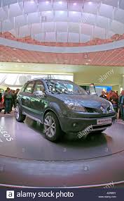 renault concept paris motor show france renault concept car koleos stock photo