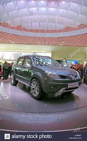 renault concept paris motor show france renault concept car koleos stock photo