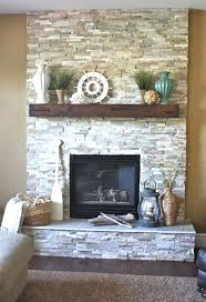 decorating fireplace mantels in modern way stones with