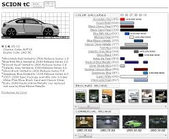 scion tc paint codes u0026 media archive scionlife com