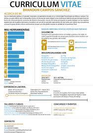 Resume Espanol My Infographic Cv By Brandon Campos Via Behance Infographic