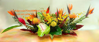 flower table tropical arrangements a special touch florists serving lahaina