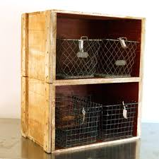 crate wall shelf vintage fruit wood crate bookcase shelf
