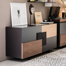 Black Modern Sideboard Furniture Black Modern Sideboard With 3 Drawers And 2 Doors For