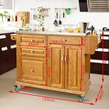 kitchen island trolleys sobuy kitchen trolley with storage cabinet bestbutchersblock com
