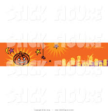 Happy Halloween Banners by Clip Art Of An Orange Happy Halloween Holiday Banner With Party
