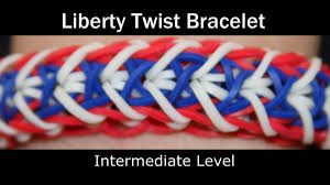 rainbow loom liberty twist bracelet youtube