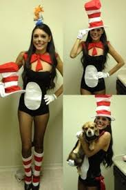 Dr Seuss Characters Halloween Costumes Super Easy Homemade Women U0027s Cat Hat Costume Super Easy