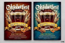 halloween party flyers templates oktoberfest flyer template tds