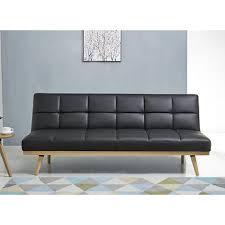 Abbyson Leather Sofa Reviews Abbyson Living Delaney Leather Sofa Bed Black Bj S Wholesale Club