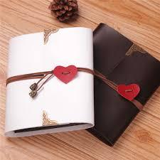 Black Leather Photo Album Aliexpress Com Buy Pu Leather 30 Black Paper Sheets Card Love