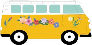 van volkswagen hippie camper clipart vw campervan pencil and in color camper clipart