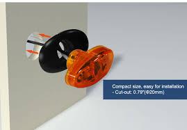 led mini marker lights 2x12v amber led oval side marker clearance lights indicators trailer