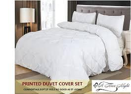 Duvet Corner Clips Amazon Com Home Decor Pintuck Duvet Cover Set Queen White Home