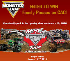 monster truck shows ontario monster jam is smashing into toronto january 16 17 2016 enter