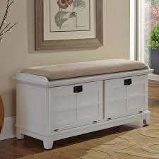 Bench With Cushion Mudroom White Mudroom Bench Entryway Bench With Rack Entryway