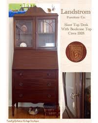 winter shopping sales on vintage mahogany landstrom slant top desk