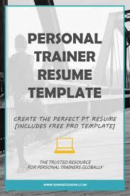 free professional resume template personal trainer resume tips free professional cv template