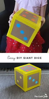 easy diy giant dice quick rolls math and gaming