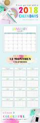 Small Desktop Calendar Free Free Printable 2018 Calendar Pretty And Colorful Free