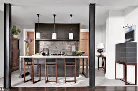 Galley Kitchen With Pass Through Counter Between Kitchen And Living Room Trends In Dining Rooms