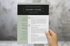2 in 1 modern word resume template resume templates creative