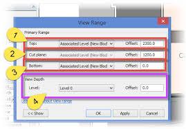 revit tutorial view range autodesk revit understanding the view range settings bimscape