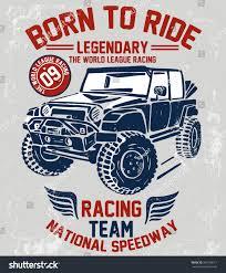 offroad jeep graphics vector vintage sport racing car tshirt stock vector 366708611