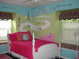 blue green painted wall panel for little girls bedroom and white