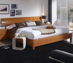 Teak Bedroom Furniture by Bedroom Furniture Modern Brown High Gloss Finish Wood King Size