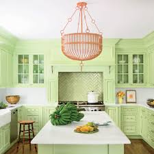 pink yellow and green kitchen living room ideas
