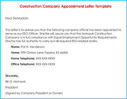 company appointment letters 20 samples examples u0026 formats