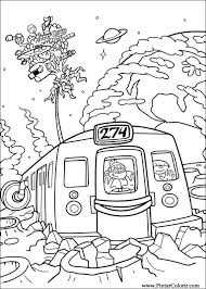 drawings to paint u0026 colour kids next door print design 010
