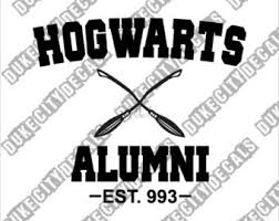 hogwarts alumni sticker hogwarts alumni etsy