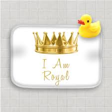 Duck Bathroom Rug Personalized Black Bath Mat Gold Royal Crown Bath Rug Home