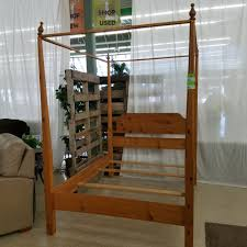 size canopy bed solid wood