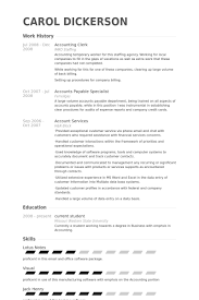 Resume Templates Accounting Accounting Clerk Resume Student Entry Level Accounts Clerk Resume