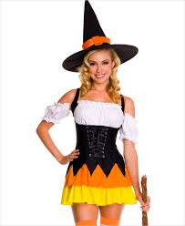 Candy Corn Costume Orange Witch Costume L Size Orange Halloween Spider Witch